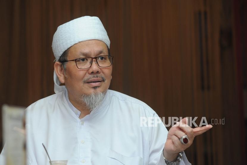 Wakil Sekertaris Jendral MUI - KH. Tengku Zulkarnain dalam pertemuan bersama panitia  dzikir akbar di kawasan Matraman, Jumat (24/11).