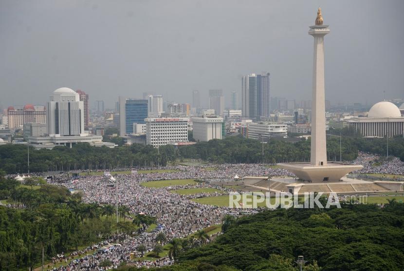 Aksi Jakarta Serukan Boikot Produk AS