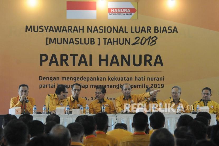 Kepengurusan Baru Hanura Hasil Munaslub Segera Didaftarkan