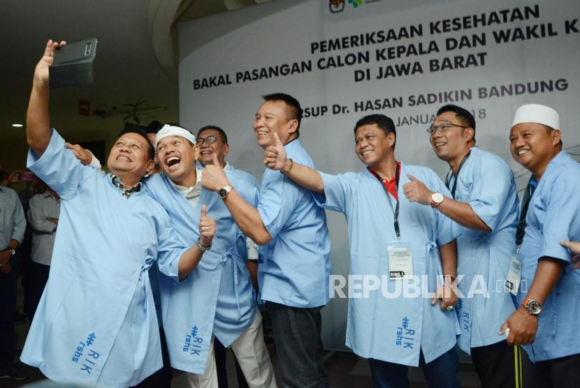KPU Jabar Terima Hasil Pemeriksaan Kesehatan Bapaslon