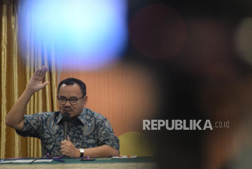 Calon Gubernur Jawa Tengah yang diusung Partai Gerindra, PKB, PKS, dan PAN Sudirman Said.
