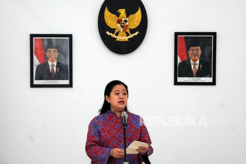 Menteri Koordinator Bidang Pembangunan Manusia dan kebudayaan Puan Maharani