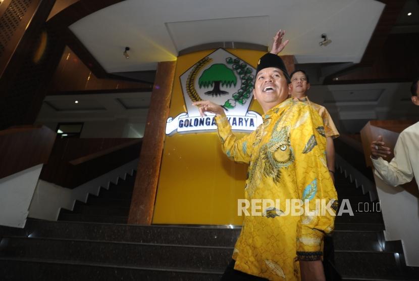 Ketua DPD Partai Golkar Provinsi Jawa Barat Dedi Mulyadi mendatangi kantor DPP Partai GOlkar di Jakarta, Rabu (06/12).
