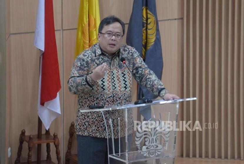 National Development Planning Agency (Bappenas) head, Bambang S. Brodjonegoro