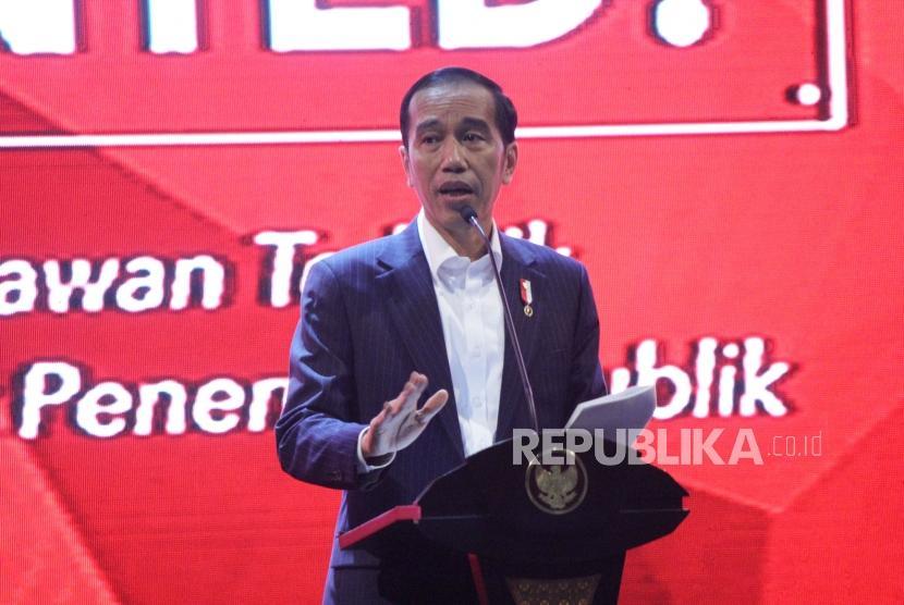 Presiden RI Joko Widodo (Jokowi) menyampaikan pengalamannya berwirausaha pada acara Entrepreneurs Wanted ! bertajuk