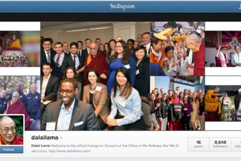 Akun Dalai Lama di Instagram