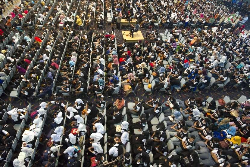 Ratusan peserta mengikuti penyuluhan akbar pencegahan dan pemberantasan penyalahgunaan dan peredaran gelap narkoba yang diadakan Badan Narkotika Nasional (BNN) di Gedung Smesco, Jakarta. (Ilustrasi)