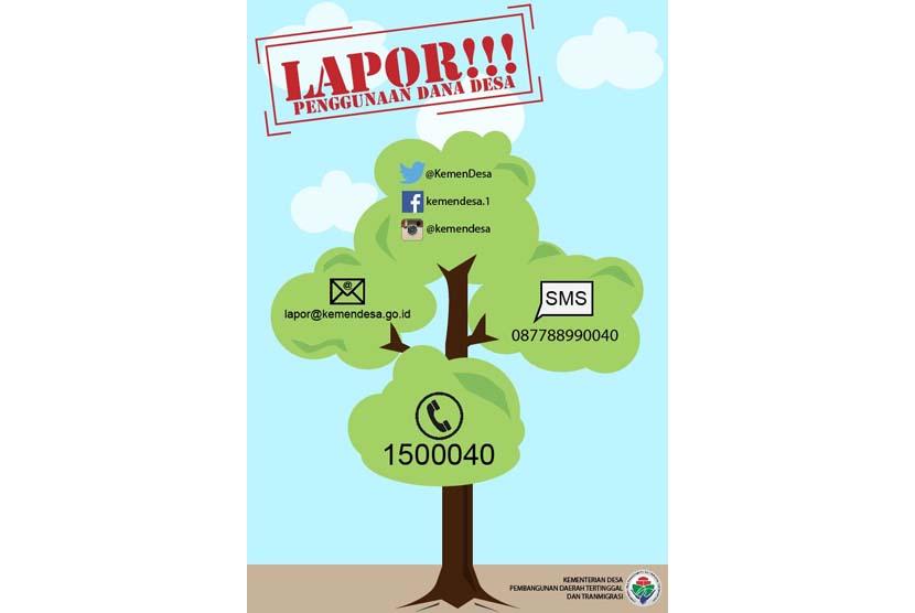 Infografis Lapor pengguna dana desa