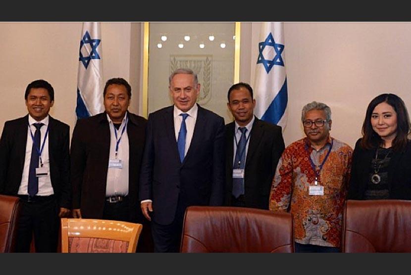 Jurnalis Indonesia bertemu Benjamin Netanyahu di Israel.