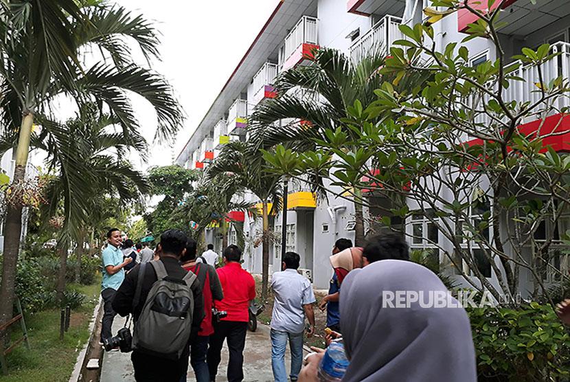 Wisma atlet di komplek Jakabaring Sport City (JSC) Palembang kondisi saat ini atau enam tahun setelah pembangunannya yang kini sudah berubah dan dipersiapkan untuk pemondokan atlet pada Asian Games XVIII – 2018.