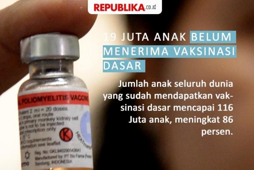 19 Juta anak belum menerima vaksinasi dasar