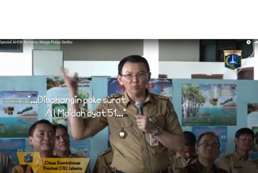A petition at change.org urged Jakarta Governor Basuki Tjahaja Purnama (Ahok) to apologize for religious blasphemy citing The Holy Quran Surah Al Maidah verse 51 as a false guidance for Muslim in choosing a leader. Ahok has apologized. It did not abort the legal consequences.