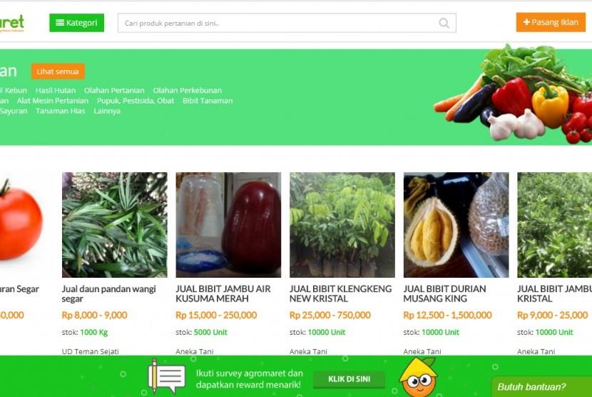 Agromaret.com, marketplace pertanian online terbesar di Indonesia.