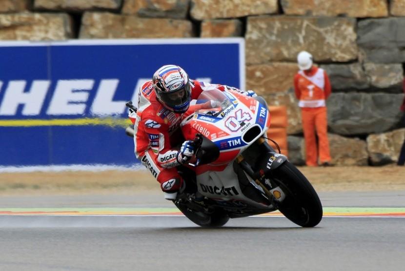 Aksi Andrea Dovizioso di GP Aragon, Ahad (24/9).