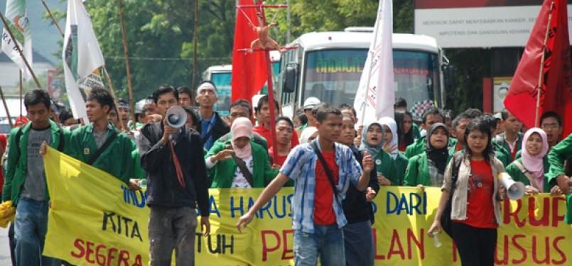 Aksi demonstrasi mahasiswa (ilustrasi)