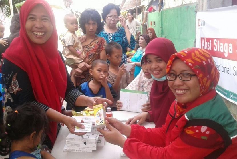 Aksi Siaga Sehat MTT di Keluarahan Maccini, Makassar, Sulawesi Selatan.