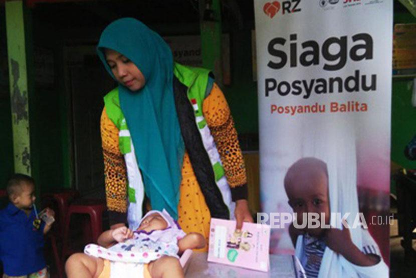 Aktivitas Siaga Posyandu di Makassar.