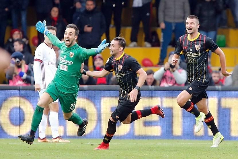Kiper Benevento: Saya Jebol Milan dengan Mata Tertutup