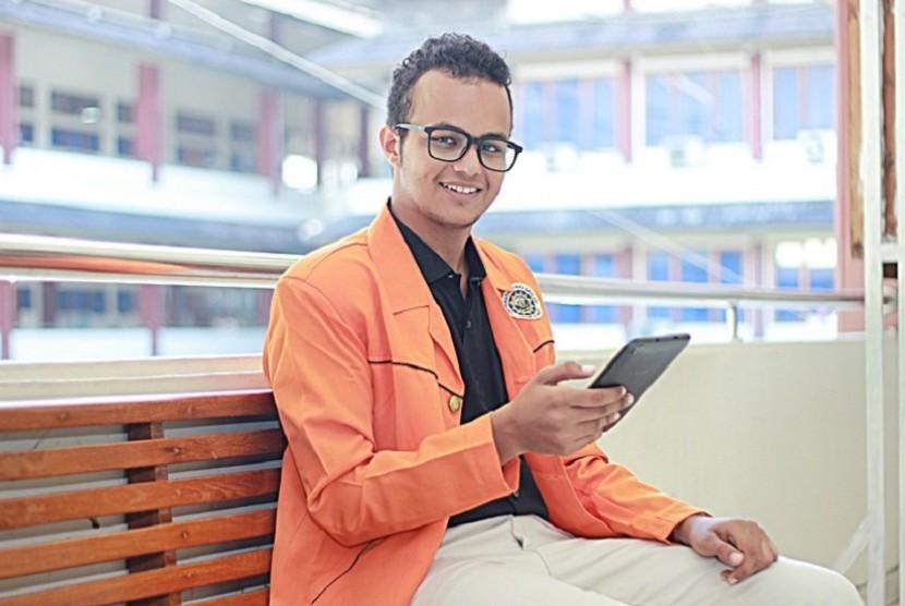 Ali Abdul Raoof (22) mahasiswa UAD asal Yaman.