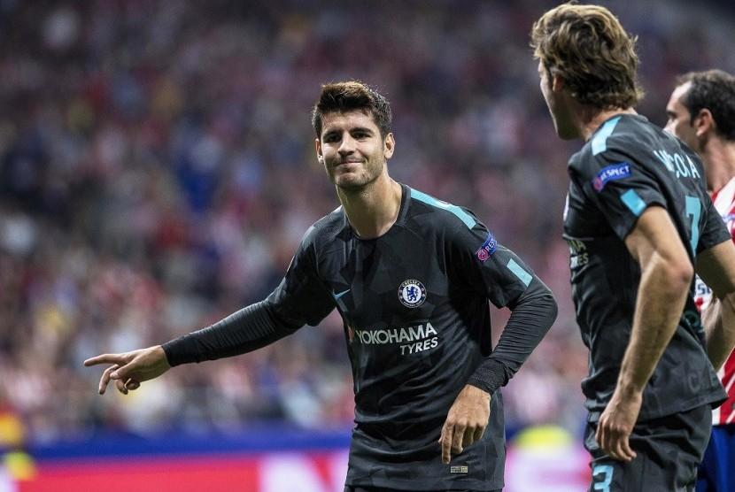 Gol Tunggal Morata Bawa Chelsea Kandaskan MU