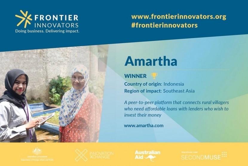 Amartha jadi pemenang Frontier Innovators.