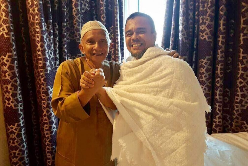 Amien Rais dan Habib Rizieq (right) in Mecca.