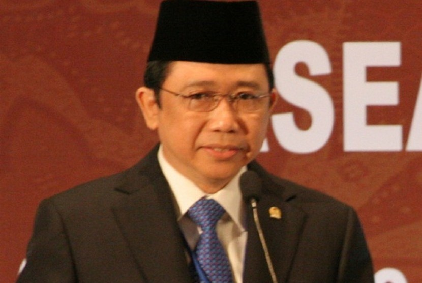 An advisory board member of the ruling party, Democrat Party, Marzuki Alie. (file photo)