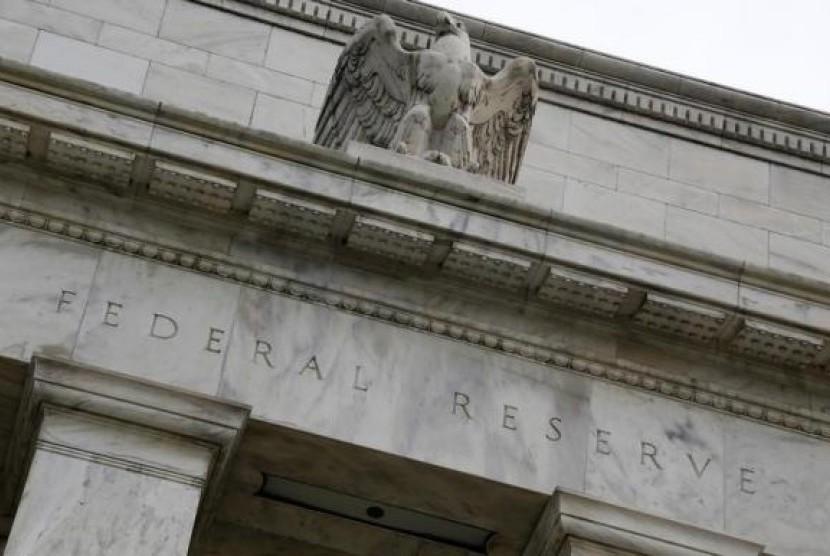 Lambang Elang Menghiasi Atap Gedung the Federal Reserved (ilustrasi)