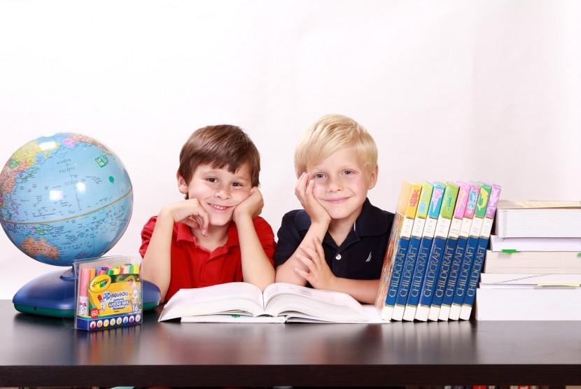 Anak belajar/ilustrasi