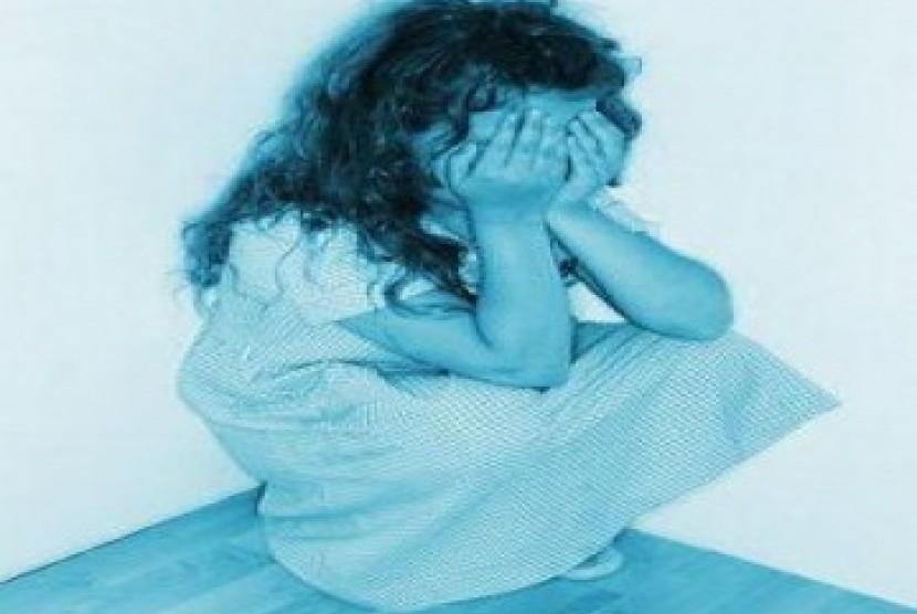 Anak korban penculikan menangis/ilustrasi.