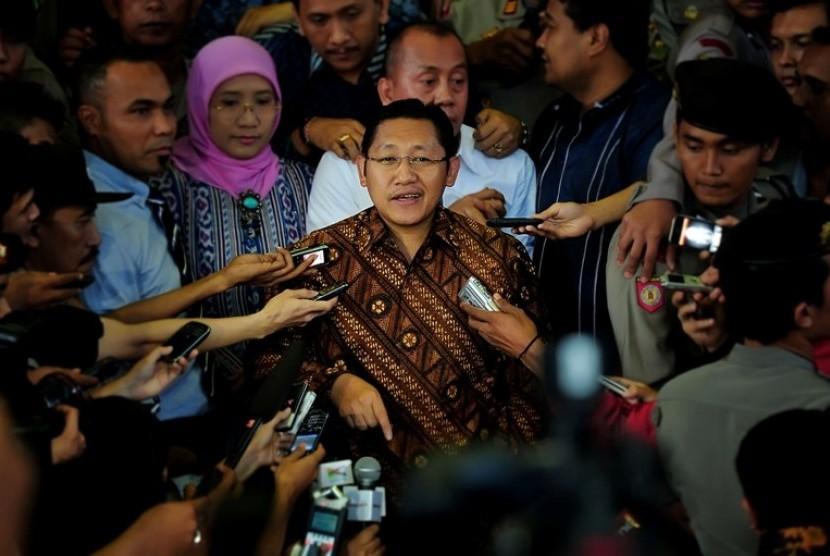Anas Urbaningrum saar dimintai keterangan oleh KPK, Rabu (27/6)