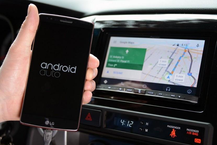 Android Auto Nirkabel. Ilustrasi