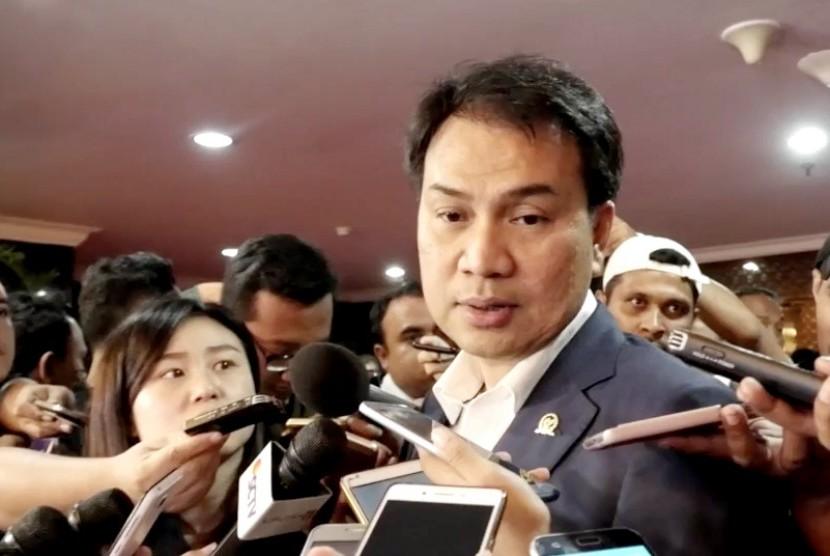 Anggota Dewan Perwakilan Rakyat Fraksi Partai Golkar Azis Syamsuddin