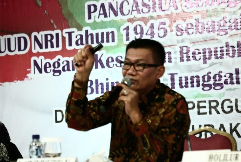 Anggota MPR dari Fraksi Partai Golkar Agun Gunandjar Sudarsa.