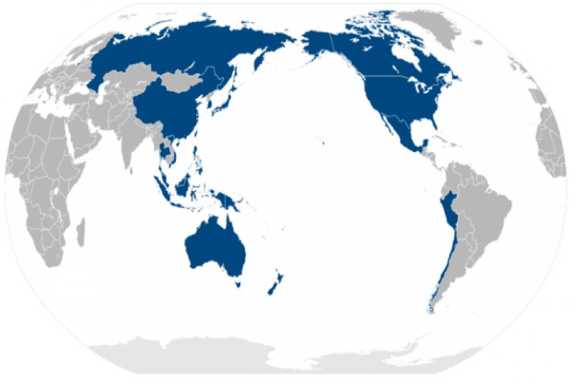 APEC members area (map)