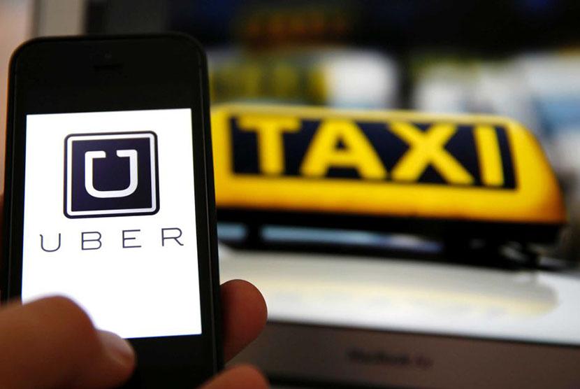 Uber taxi. (Illustration)