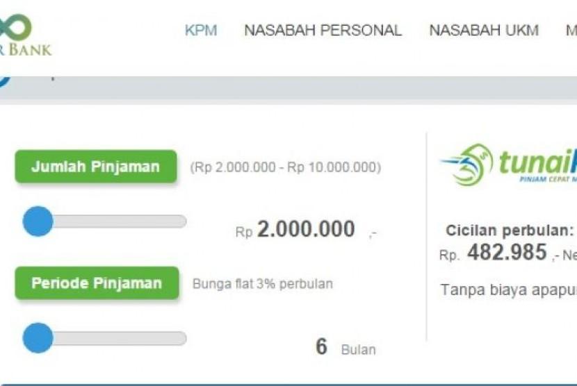 Aplikasi teknologi keuangan alias financial technology (fintech) Tunaiku milik Bank Amar.