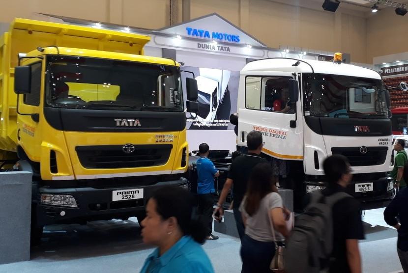 Armada truk Tata saat pameran GIIAS di Ice BSD Serpong Tangerang Selatan
