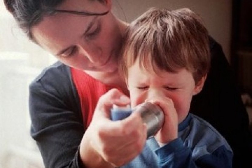 Asma pada anak (Ilustrasi)
