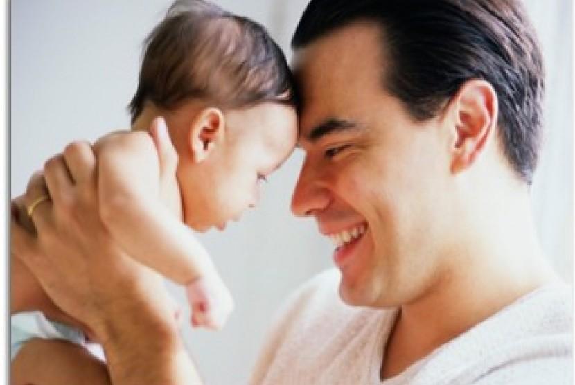 Ayah dan anak. Ilustrasi