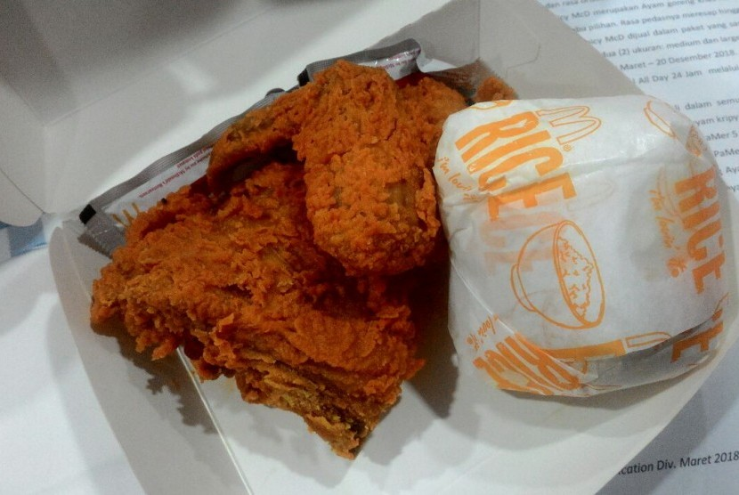 Ayam pedas McDonald's.