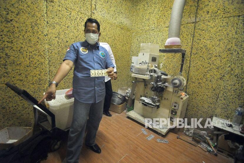 Jutaan Pil PCC Disita dari Rumah Kontrakan di Sidoarjo