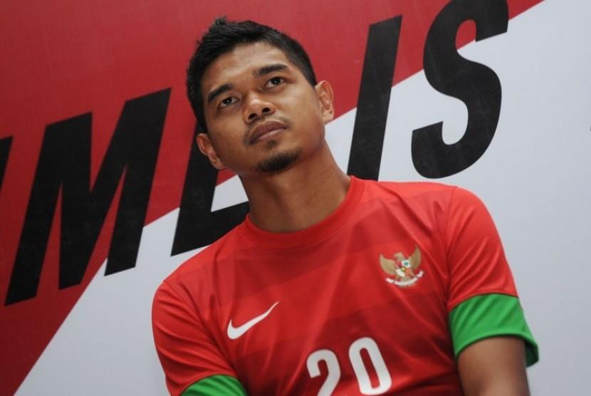 Bambang Pamungkas dengan kostum baru Timnas Piala AFF