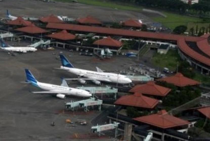 Bandara Soekarno-Hatta di Cengkareng, Provinsi Banten.