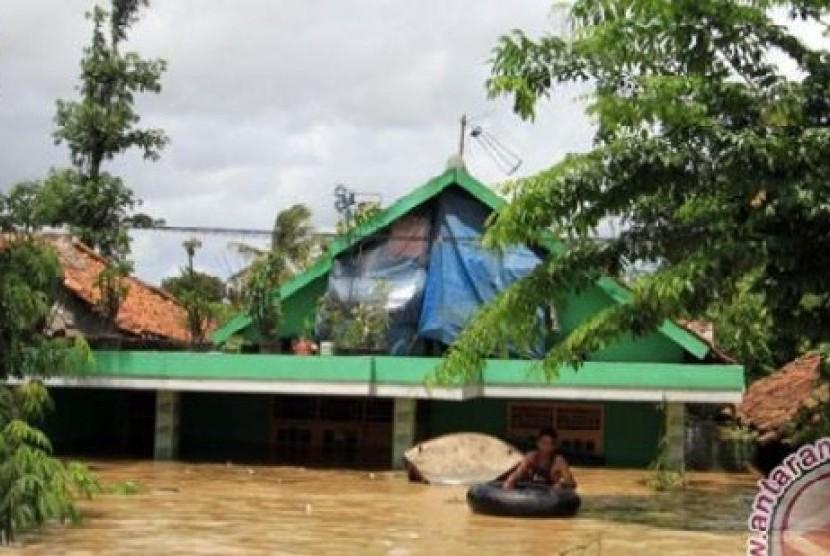 [ilustrasi] Banjir di Sukabumi.