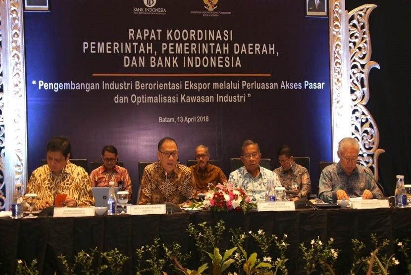 Bank Indonesia bersama pemerintah menggelar rapat koordinasi pusat-daerah (Rakor Pusda) yang ke-15 di Batam, Jumat (13/4).