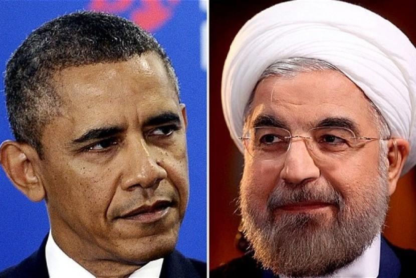 Barack Obama dan Hassan Rouhani