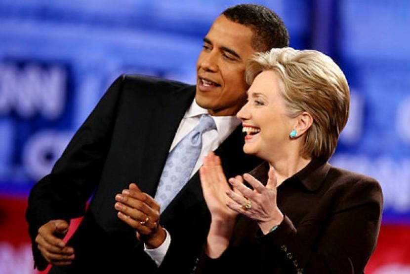 Barack Obama dan Hillary Clinton