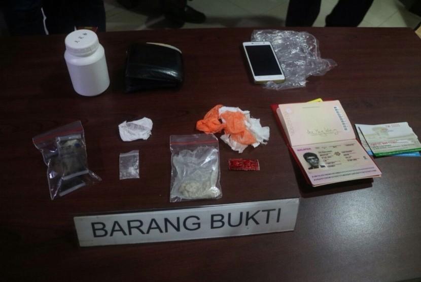 Barang bukti narkotika yang disita Bea Cukai.