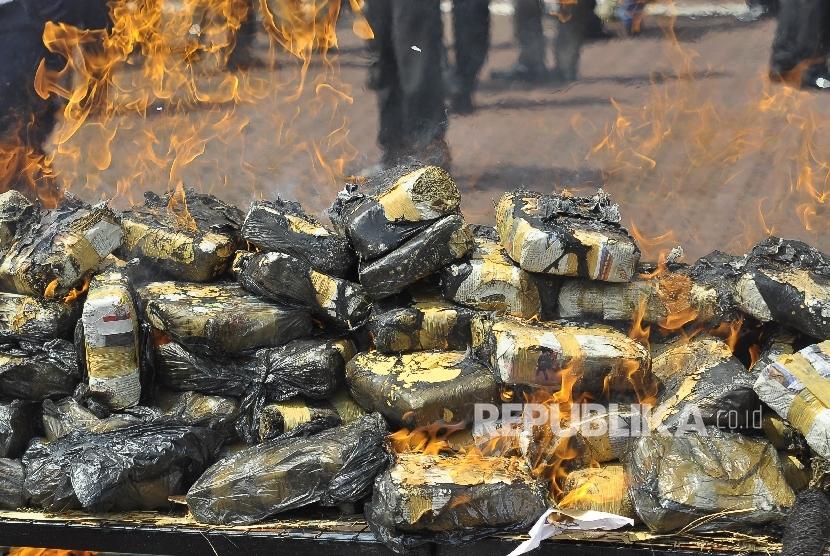 Personel TNI Amankan 300 Kilogram Ganja